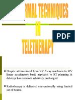 Conformal Techniques in Teletherapy