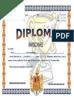 Diploma PARTICIPARE Competitii