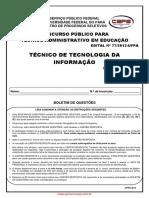 PROVA 1-Tecnico de Tecnologia Da Informacao-UFPA