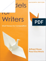 Models for Writers, Eleventh Edition - Alfred Rosa & Paul Eschholz