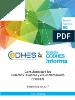 Consultoría para los Derechos Humanos y el Desplazamiento CODHES Septiembre de 2017