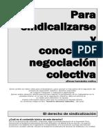 Derecho de Sindicalización y Negociación Colectiva