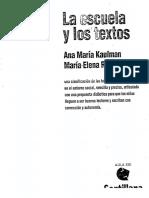 Kaufman, Ana María. La escuela y sus textos.pdf
