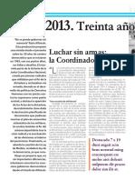 1983-2013 Treinta años de la Coordinadora