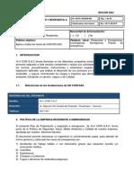 Plan de Preparacion y Respuesta a Emergencias - Ghcoin Sac 2015