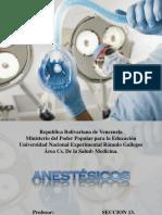 Anestesicos Locales y Generales.