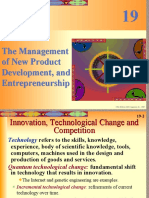 Chpt19 the Management of New Product Development, And Entrepreneurship
