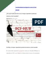 Lydia Gil, Por Qué Triunfa Sci Hub Si Es El Mayor Repositorio Pirata de Ciencia a Nivel Mundial Social Media en Investigación, 06 Jul 2017