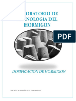 Dosificacion de Hormigon