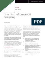art of crude sampling