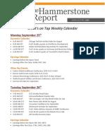 Hammerstone Calendar Sept 25th- Sept 29th - 2017