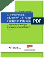 El Derecho a La Educacion y Gasto Publico en Paraguay - Lila Molinier - Ano 2016 - Portalguarani