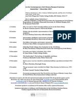 Research Seminar in Contemporary Irish History September - December 2017