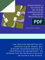 Organización y Currículo de Las Nuevas Enseñanzas de Educación Secundaria en Andalucía