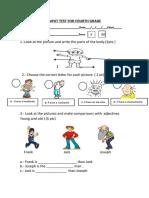 PRUEBA DE ENTRADA INGLES CUARTO SECUNDARIA - Input Test for Fourth Grade.finish Work (1)
