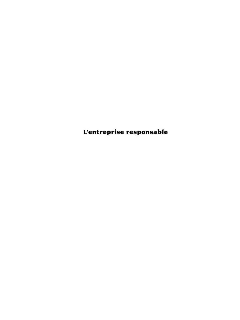 100% authentic c97dc e6fd5 Chauveau, Alain  Rosé, Jean-Jacques-L Entreprise responsable    Responsabilité sociale - Ethique-Éditions d Organisation (2003).pdf