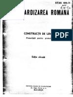 STAS 856-71 Constructii de Lemn Prescriptii de Proiectare