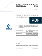 Norma Colombia NTC ISO IEC27001.Doc