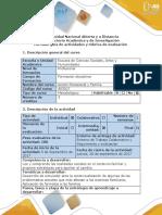 Guía de Actividades y Rubrica de Evaluación