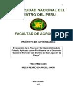 Proyecto de Investigacion Del Barrio de San Agustin de Cajas