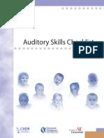 Auditory Skills Checklist Cincinatti Childrens Hosp