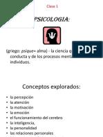 1. Interacion de Psicologia y Cristianismo. CLASE 1.