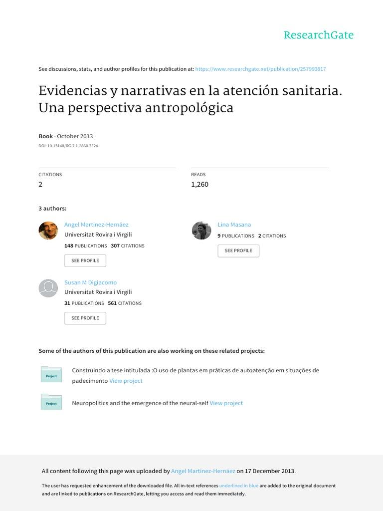 Enviando Evidencias y Narrativas en La Atencion Sanitaria Una ...