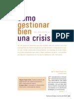 Como Gestionar Bien Una Crisis