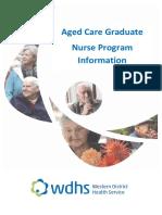 Aged Care Graduate Nurse Program Information
