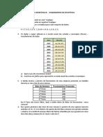 Lista de Exercícios 01 Fundamentos de Estatística