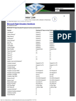 Microsoft Flight Simulator Keyboard Controls and Equivalents