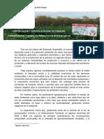 Sustentabilidadm Certificación y Paisajes Productivos