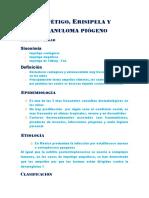 Impétigo, Erisipela y Granuloma Piógeno.pptx