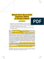 Rational Choice Theory and the Comparative Method