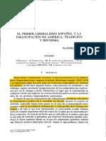 El Primer Liberalismo Español y La Emancipación de América Tradición y Reforma 12