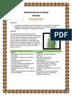 Identificacion de Las Fibras Poliester