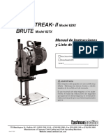 Blue Streak II and Brute Manual Spanish