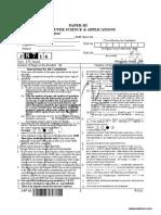 CBSE NET Computer Science Paper 3 Sep 2016