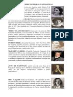 10 Mujeres Escritoras Guatemaltecas