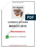 Maru Gujarat Current Affairs March 2015