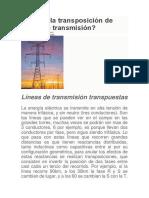 Qué Es La Transposición de Líneas de Transmisión