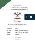 INFORME FISICA ANTECEDENTES DE LA FISICA.docx