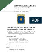 Trabajo 1. Contaminación Del Suelo Por La Disposición Final de Residuos Sólidos
