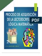 Proceso de Adquisicion de La Lectoescritura y Logica Matematica (2)
