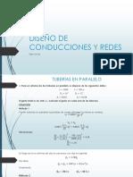 Diseño de Conducciones y Redes Ejercicios Erick Daniel