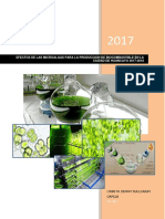 efecto de las microalgas para la producción de biocombustible