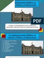 Diapositiva Semana 8 y 10 - Administración Pública.