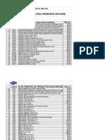 Lista de Precios Accesorios Acuario