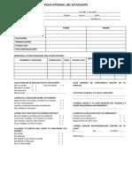 DIAGNOSTICO INICIAL DE LOS ESTUDIANTES Ficha Integral Del Estudiante