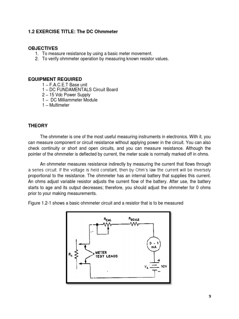 12 Exp Resistor Electrical Resistance And Conductance